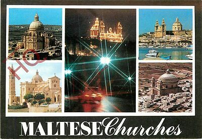Picture Postcard-:Malta, Maltese Churches