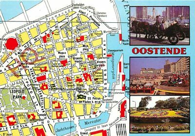 Picture Postcard-:Ostend, Oostende, Map