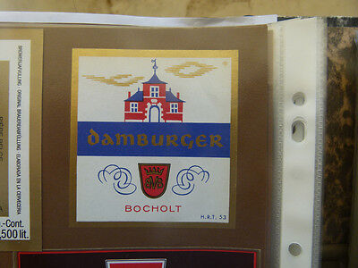 Vintage Belgium Beer Label. Martens Brewery - Damburger