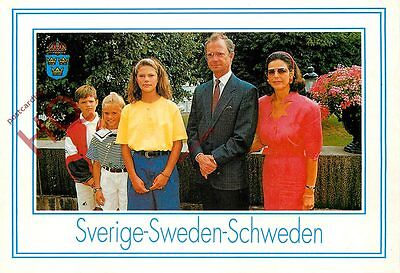 Picture Postcard-:SWEDEN ROYAL FAMILY