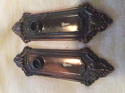 Pair of vintage door back plates