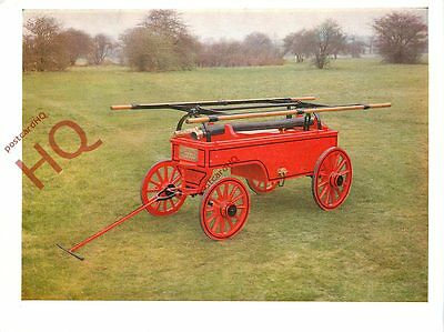 Picture Postcard~ MANUAL FIRE ENGINE, 1898 [SCIENCE MUSEUM]