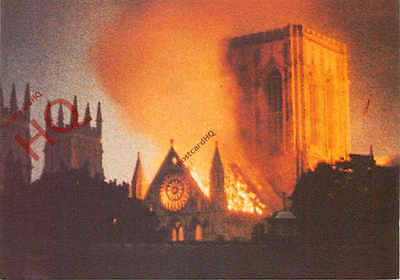 Picture Postcard, The York Minster Fire, 1984