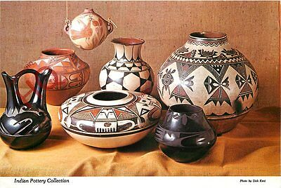 Picture Postcard: Native American Indian Pottery Collection