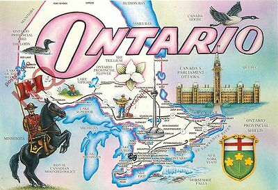 Picture Postcard::Ontario, Map