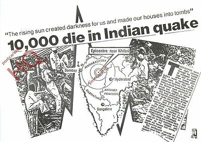 Picture Postcard:;Indian Earthquake [Headline Postcards]