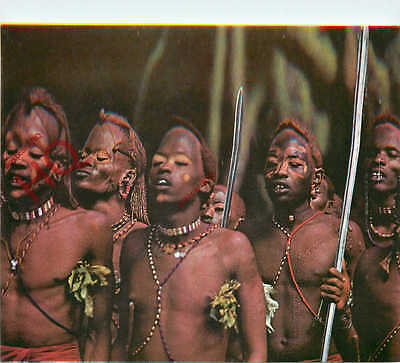 Picture Postcard:;Kensta Tribes Series, Maasai Warriors