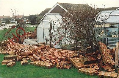 Picture Postcard:-Burns Day Storm 1990, Damage In Durrington