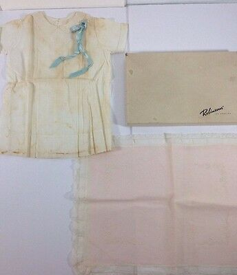 Antique Baby Portrait Dress And Pillow Sham Robinsons Dept Store Los Angeles