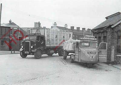 Postcard:-1951 SCAMMELL SCARAB, WITH 1935 LEYLAND BEAVER, ULSTER TRANSPORT