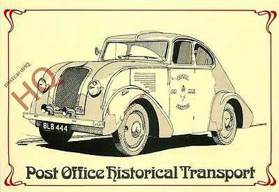 Postcard~ Post Office Historical Transport, Royal Mail Air Service Morris