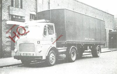 Postcard~ Leyland Comet Articulated Box Lorry, British Road Services (Repro)