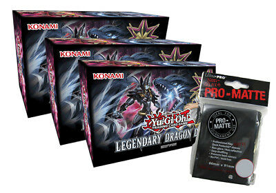 Yu-Gi-Oh - Legendary Dragon Deck Box 3 Boxen + Hüllen - Deutsch