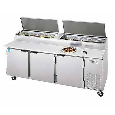 """Pizza Top Refrigerated Counter, 3 Section, 93"""" W, 39.8 cuft, Beverage Air DP93"""