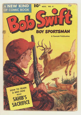 November 1951 BOB SWIFT BOY SPORTSMAN #4. Saunders painted cover, innovative art
