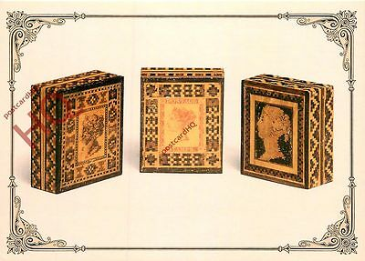 Picture Postcard; Tunbridge Ware Stamp Boxes