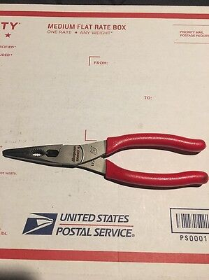 New Snap On Talon  Grip Cutting Long Nose  Pliers