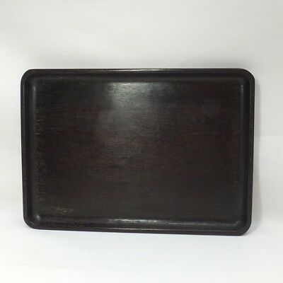 H493: Japanese wooden tray for SENCHA made from popular KARAKI without joint