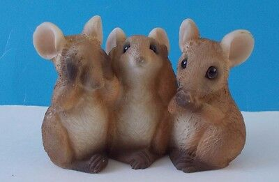 Mice / Mouse Hear, See, and Speak No Evil Figurine