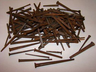 Vintage Square Cut Steel Nails Assorted Sizes Over 100 Pcs. (Unused)