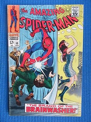 Amazing Spider-Man # 59 - (Fine) - 1St Mary Jane On Cover, Brainwasher, Kingpin