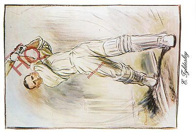 Picture Postcard--Cricket, Ernest Tyldesley