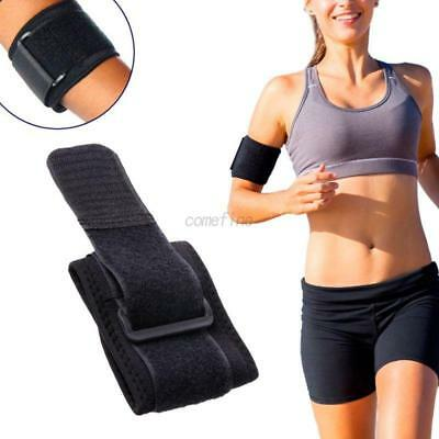 Unisex Adjustable Tennis Golf Fitness Sports Elbow Support Strap Pad Band Black
