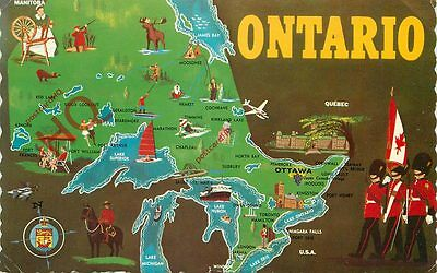 Picture Postcard--Ontario, Map
