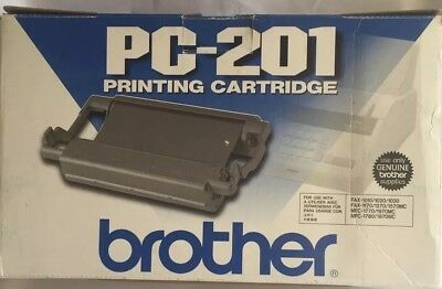 PC-201 Black Print Cartridge Brother Brand Thermal Fax Ribbon Genuine NEW  PC201