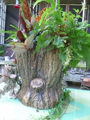 "Stoneware Stump-Form Planter, Stamped ""F.B. NORTON & CO. / WORCESTER, MASS"