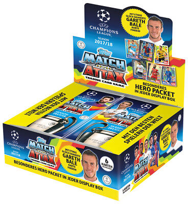 TOPPS - Champions League 2017/18 - Trading Cards 1 Display (24 Booster) Deutsch