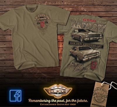 Ford Falcon Xr Gt Celebrating 50 Years Of The Gt Golden Anniversary T Shirt
