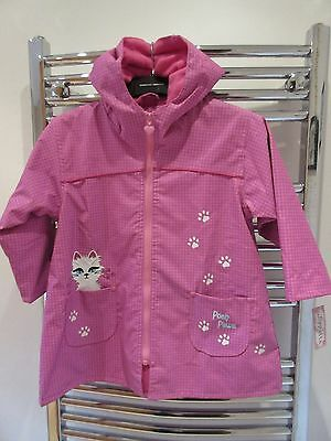 BNWT Girls Wippette Fleece lined Hooded Rain Coat Jacket  Age 3 years New