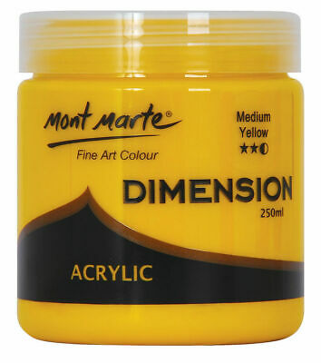 Mont Marte Dimension Acrylic Paint 250ml Pot - Medium Yellow