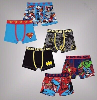 Infant Boys Branded Character 2 Pack Stretchy Boxers Underwear Age 2-13 Yrs
