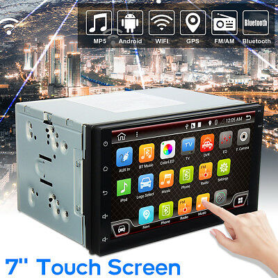 7'' Android 6.0 Double 2 DIN Navi Sat Nav Car GPS Stereo DAB+ Radio WiFi CAN