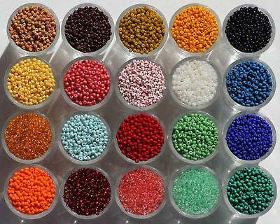 Czech Glass Seed Beads 8/0 10g. Rocaille,Preciosa,each add. item is Free post.