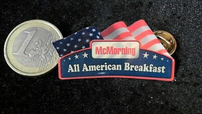 McDonalds Mc Donalds MCD Pin Badge Mc Morning all american Breakfast