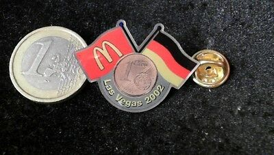 McDonalds Mc Donalds MCD Pin Badge Las Vegas 2002 Germany Deutschland 1 Cent