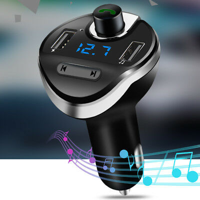 CO_ Hands-free Bluetooth MP3 Player USB Port Cigarette Lighter Car Charger Eager