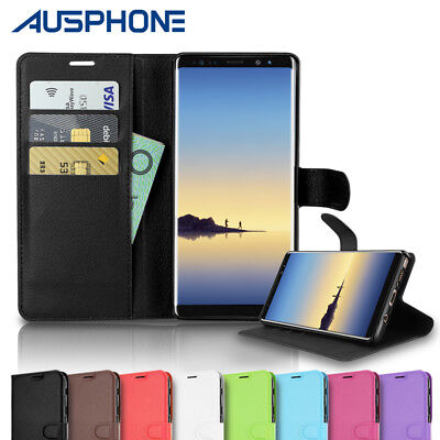 NEW Note 8 Premium Flip Leather Wallet Card Case Cover Pouch For Samsung Galaxy