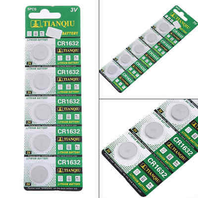5pcs CR1632 BR1632 ECR1632 3V Button Cell Coin Battery for Watch Calculator Toy
