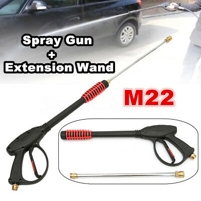 M22 4000PSI High Pressure Washer Cleaner Spray Gun w/ Extension Wand Lance Set