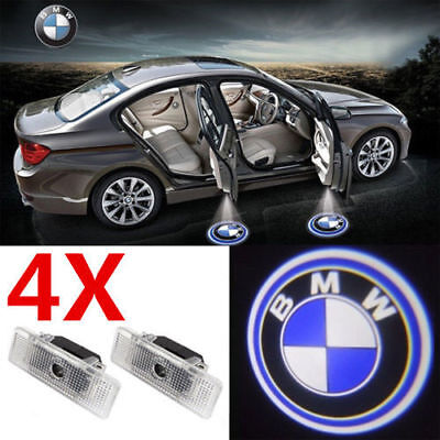 4X LED Car Step Welcome Projector Courtesy LOGO Lights For BMW E39 X5 2000-2006