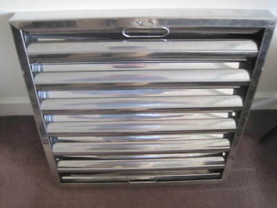 "Stainless Steel Grease Baffle Filter 395x395x45 16""x16""x2"" Kitchen Canopy Filter"