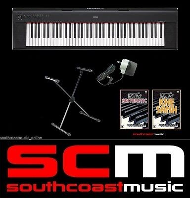 YAMAHA NP32 76 KEY PORTABLE DIGITAL PIANO + ADAPTOR STAND & 2 DVDs REPLACES NP31