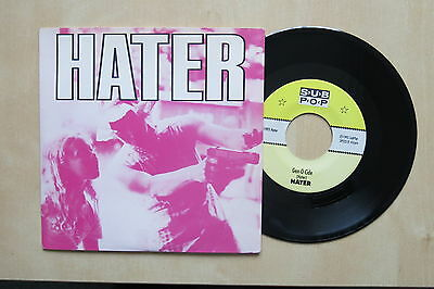 "HATER Circles / Gen-O-Cide USA 7"" in picture sleeve Sub Pop SP 233 1992 Ex+"