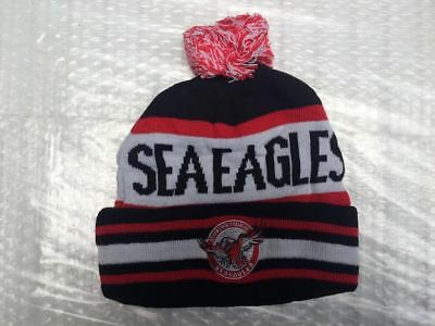 Manly Sea Eagles nrl beanie hat rugby league