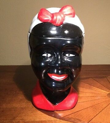 Large Aunt Jemima Display Cookie Jar Head Bust Folk Art