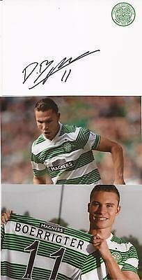 Celtic * Derk Boerrigter Signed 6X4 Crested Whte Card+2 Free Unsigned Photos+Coa